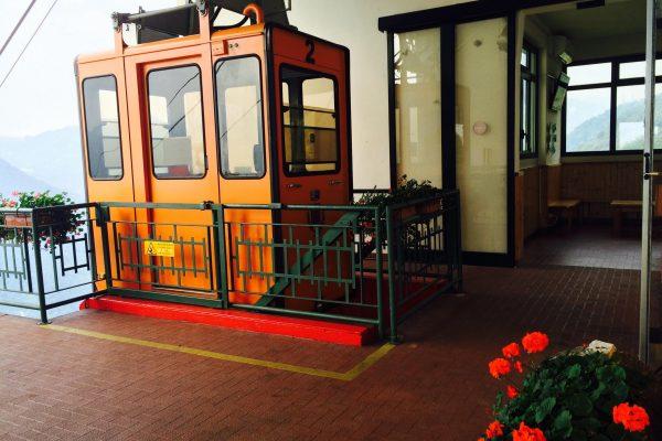 Pigra cablecar to Argegno