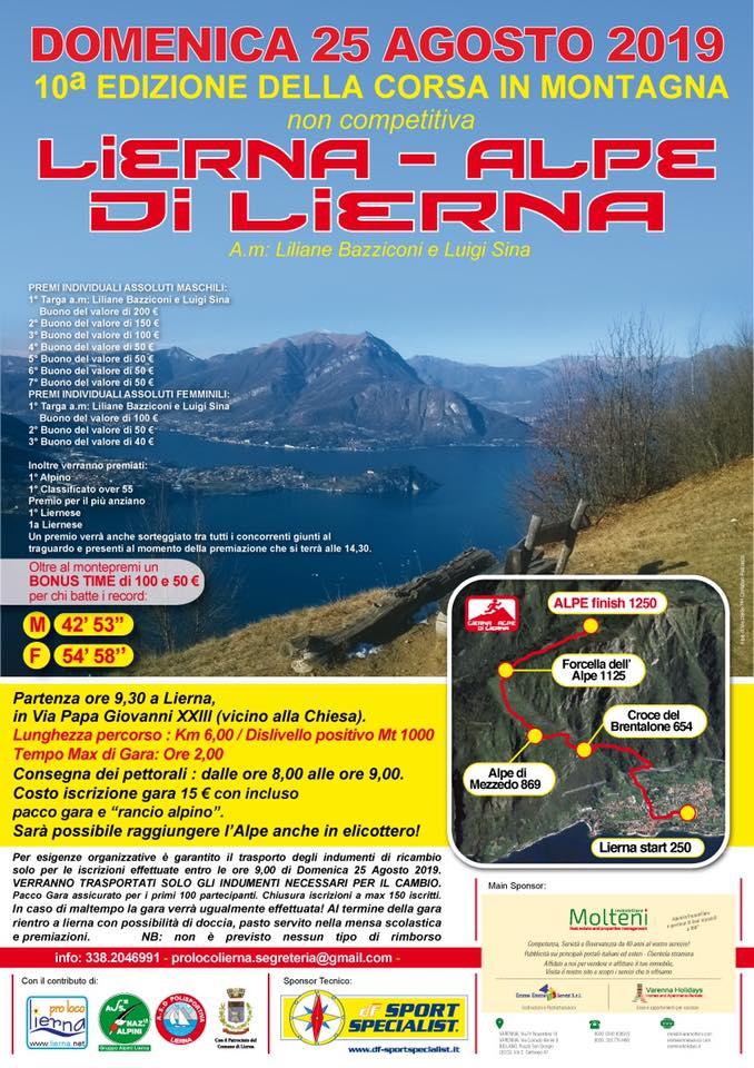 25.08 GARA DI CORSA IN MONTAGNA Lierna – Alpe di Lierna
