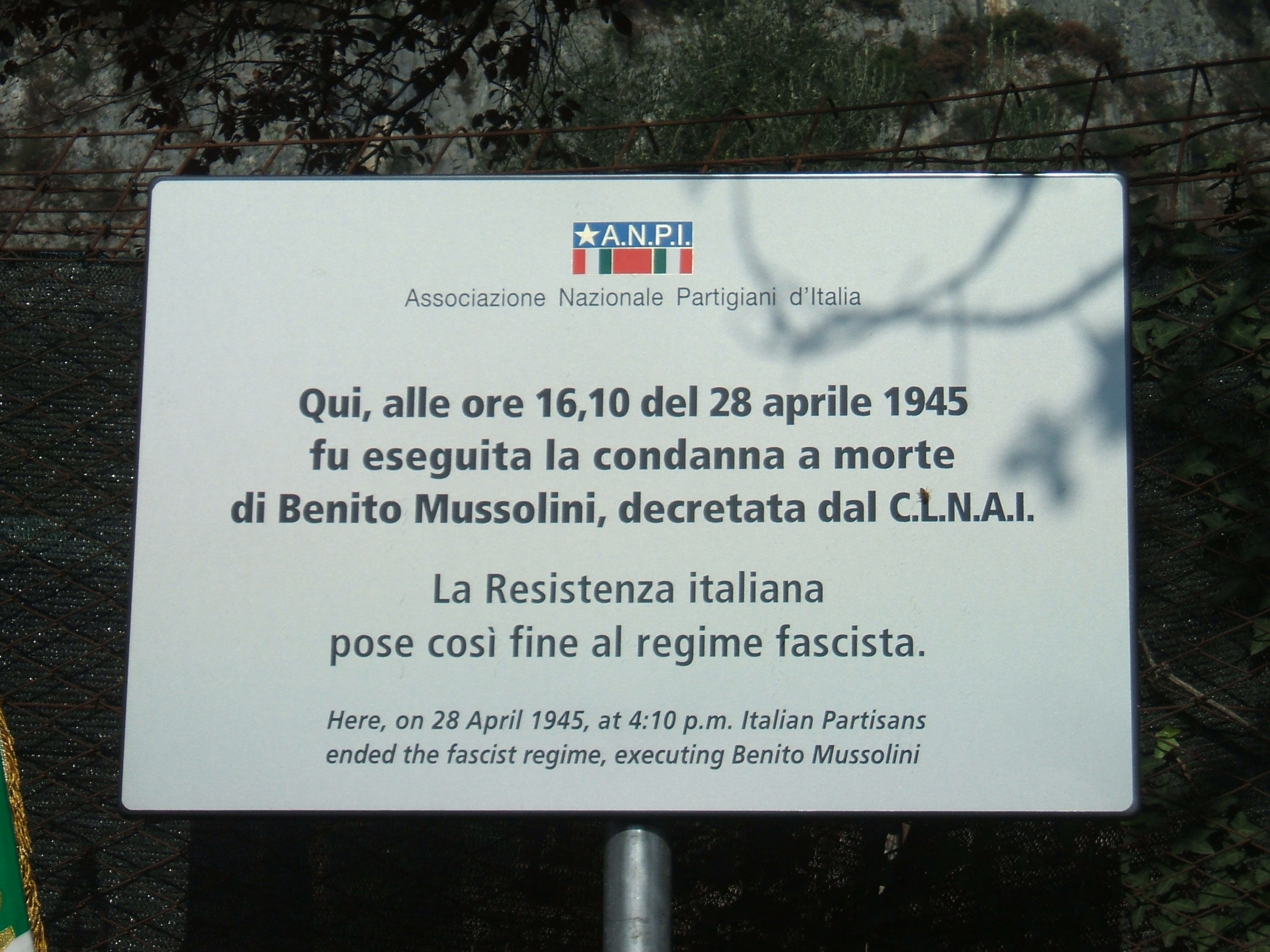 REMEMBRANCE PATHS:  THE TREMEZZINA BATTLE AND THE END OF THE TYRANNY (1944-45)